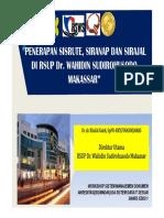 Peerapan Sisrute, Siranapdan Sirajal Di Rsup Dr Wahidin Sudirohusodo Makassar