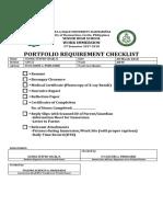Immersion Forms Checklist