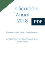 Planificacion Iniciacion Al Teatro Musical