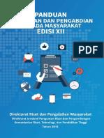 Buku Panduan Penelitian dan Pengabdian Edisi XII Tahun 2018.pdf