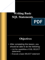 Ch 1 Basic SQL Statement