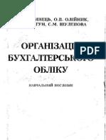 Організація бухгалтерського обліку - Бутинець