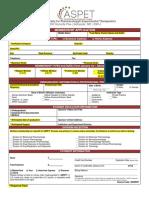 Aspet Membership Application