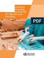 Decontamination and Reprocessing of Medical Devices for Health-care Facilities