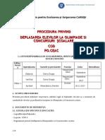 Procedura Operationala Privind Deplasarea La Olimpiade Si Concursuri (Autosaved)