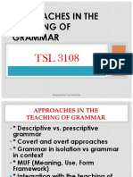 Approaches in Teachg of Grammar