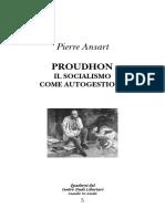 Ansart - Proudhon e Il Socialismo Autogestito