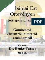 Plébániai Est Dr. Benke T