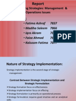 Implementing Strategies- Management & Operations Issues