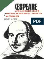 SHAKESPEARE, William - Opere Complete (Vol.7)