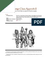 Dark Sun 3.5 Prestige Class Appendix Vol. 2