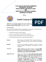 English Language Proficiency Course