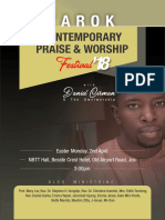 Tarok Contemporary Praise &  Worship Lyrics Brochure