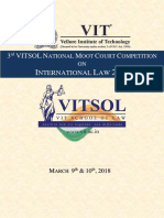 3rd VITSOL National Moot Court Competition on International Law