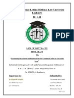Law of Contracts Fd (2nd Sem)