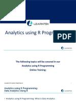 Analytics Using R Programming Online Training