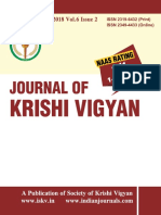 Journal of Krishi Vigyan Vol 6 Issue 2 (January - June 2018)