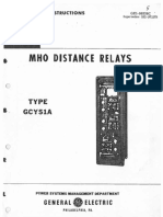 Mho Distance Relays Type Gcy51A