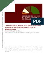 Derecho Societario - La Convocatoria Judicial de La Junta General de Accionistas
