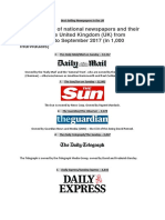 best selling newspapers in the uk