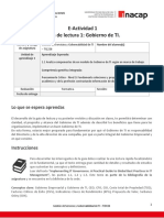 E-Actividad 1 Guía de Lectura 1 Gobierno de TI.
