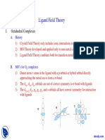 Ligand Field Theory Advanced Inorganic Chemistry Lecture Slides