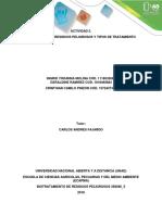 Guía de actividades y rúbrica de evaluación. Actividad 2 - Selección del residuo peligroso a trabajar, tipos de biotratamiento
