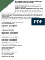Cantos Para Missa Ação de Graças Pelo 25 Anos de Ordenação Sacerdotal de Pe Charles Douglas