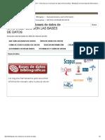 QUÉ SON LAS BASES de DATOS - Cómo Buscar en Las Bases de Datos de Forma Eficaz - Biblioguías at Universidad de Extremadura. Biblioteca