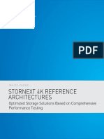 WP StorNext 4K Reference Architectures Optimized Storage Solutions Based on Comprehensive Performance Testing WP00230A