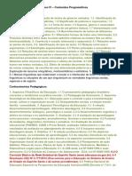 Conteúdo Programático - Estado (ES)