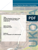 UKOPA Product Loss Incidents Faults Report 1962 2014