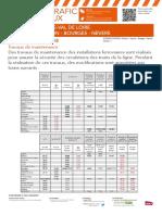 Perturbations ligne Orléans - Vierzon - Bourges - Nevers, du 3 au 30 avril
