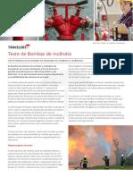Teste de Bombas de Incendio Boletim Tecnico