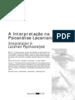 A Interpretacao Na Psicanalise Lacaniana PDF