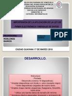 Firma Electronica y Mensajes de Datos Dorialkis Farreras