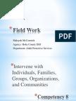 field work competency 8