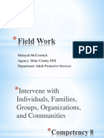 field work competency 8