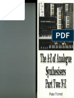 The A-Z of Analogue Synthesisers - N to Z