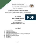 Aprobado Sílabo Anatomía I Medicina 12.2.18 (1)