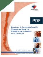 Sistema nacional de planificacion y gestion en el territorio