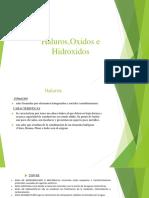 Haluros Oxidos e Hidroxidos
