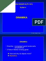 Kuliah-04 Dinamika