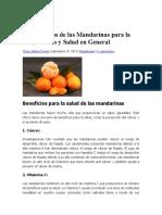16 Beneficios de Las Mandarinas Para La Piel