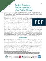 Broken Promises Teacher Diversity Position Paper