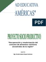 Proyecto socioproductivo 2018