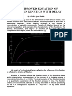 The improved equation of flotation kinetics with delay by Ph.D. Igor Bobin