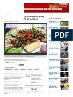 El Picante de Sinos Plato Bandera de La Gastronomia Casmena en Ancash