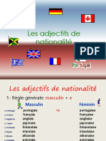 Adjectifs Nationalit Powerpoint