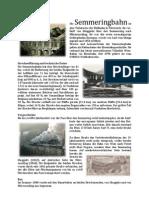 Die Semmeringbahn - Zusammenfassung